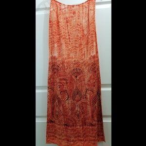 🎶Exotic-print long skirt, Esprit, EUC, fits 2-4